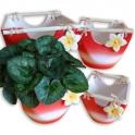Keramické květináče s uchem sada 4 ks