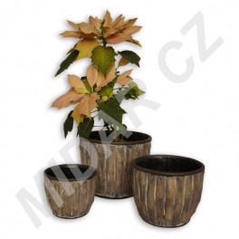 Keramické květináče sada 3 ks