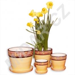 Květináče s podmiskou tulipán