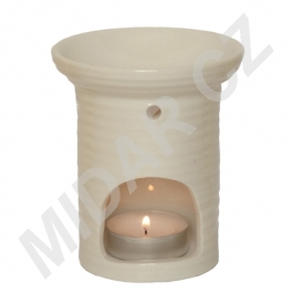 Bílá keramická aromalampa