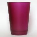 Skleněný květináček - svícen fialový